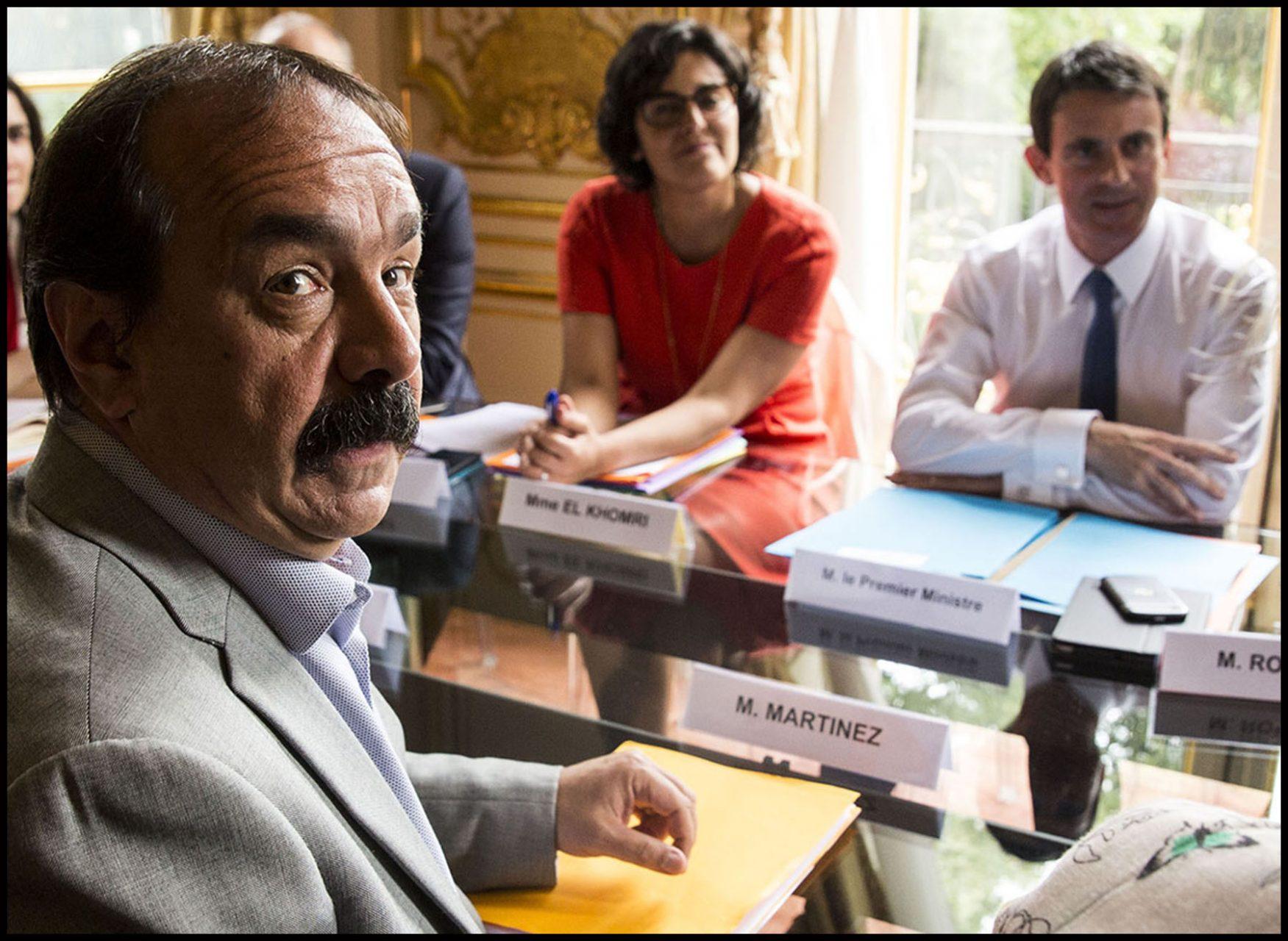Le premier ministre Manuel VALLS reçoit les partenaires sociaux pour faire le point sur la loi El Khomri.