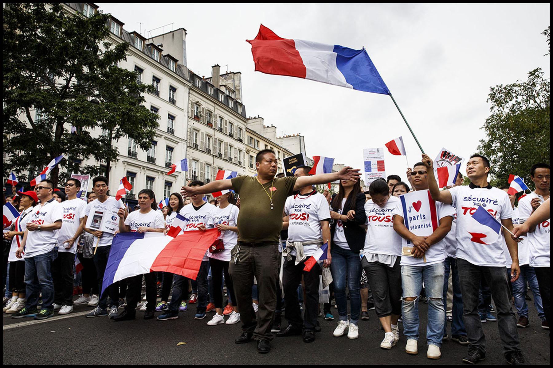 Manifestation à Paris de la communauté chinoise contre le « racisme envers les Asiatiques » après l'agression mortelle de Zhang CHAOLIN à Aubervilliers début aout.