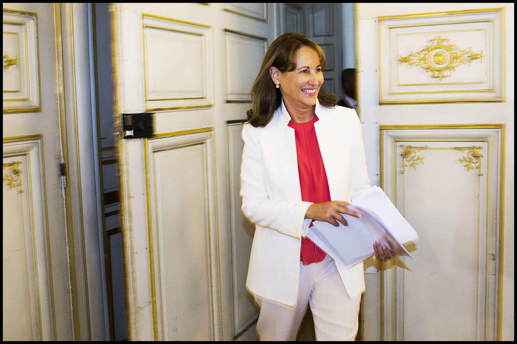 Conférence de presse de rentrée de Ségolène ROYAL au ministère de l'écologie.