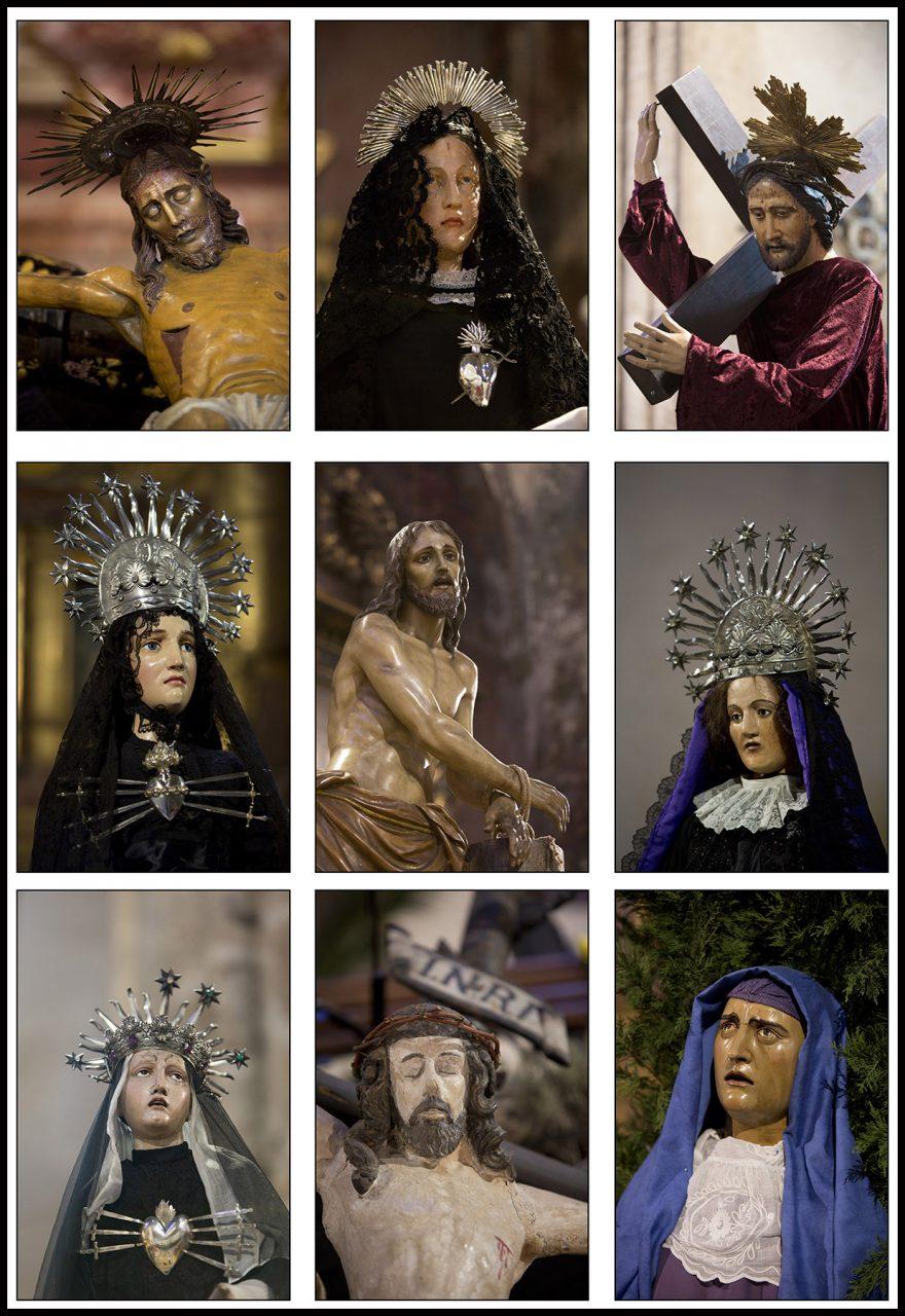 Archiconfrérie de la SANCH, à Perpignan, préparation et procession du Vendredi Saint.