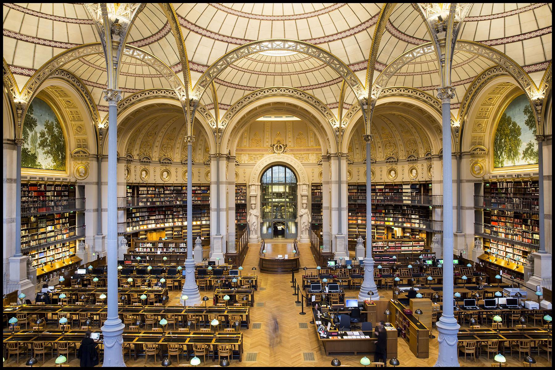 Ouverture de la bibliothèque de l'Institut National d'Histoire de l'Art ( INHA ) sur le site Richelieu de l'ancienne Bibliothèque Nationale de France BNF