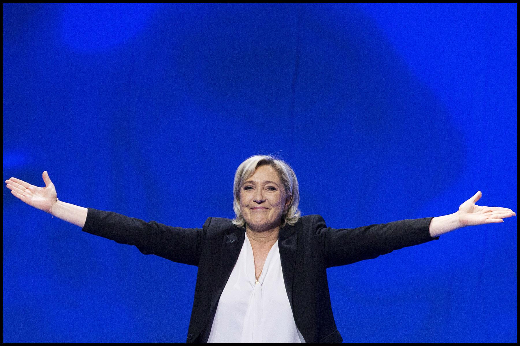 Meeting de campagne de Marine Le PEN, la candidate du Front National (FN)  pour l'élection présidentielle de 2017 à Nantes.