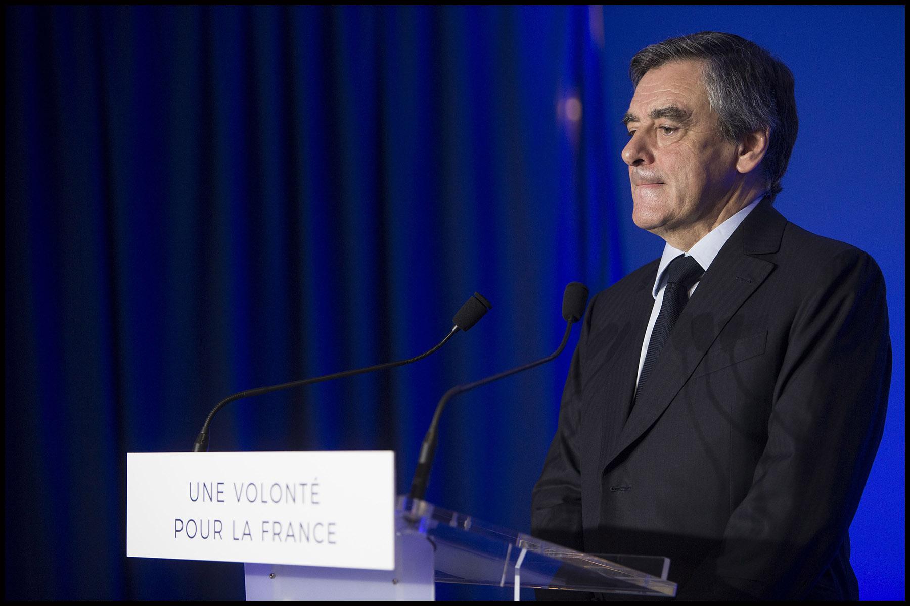 Conférence de presse du candidat Les Républicains François FILLON sur son programme de défense et de politique internationale