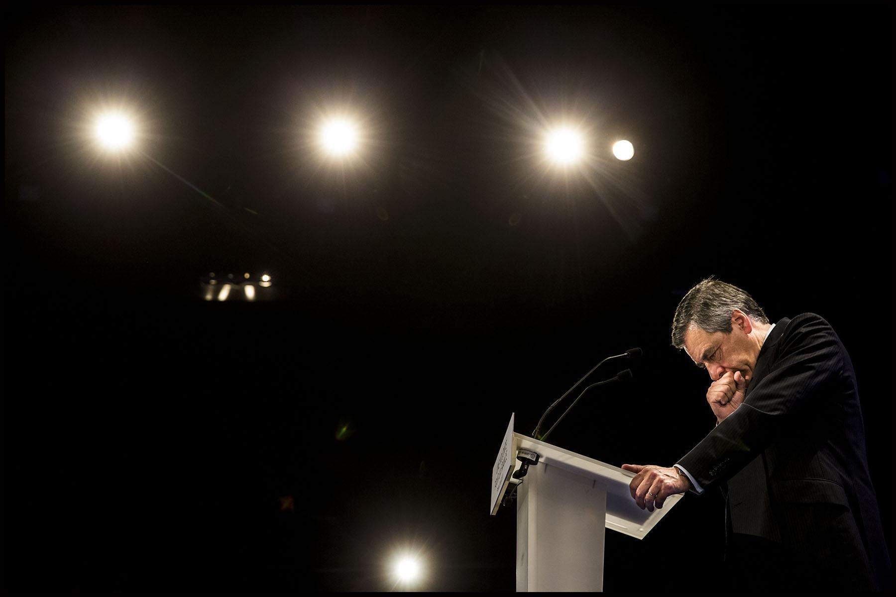 Meeting de François FILLON, candidat de la droite et du centre à l'élection présidentielle de 2017.