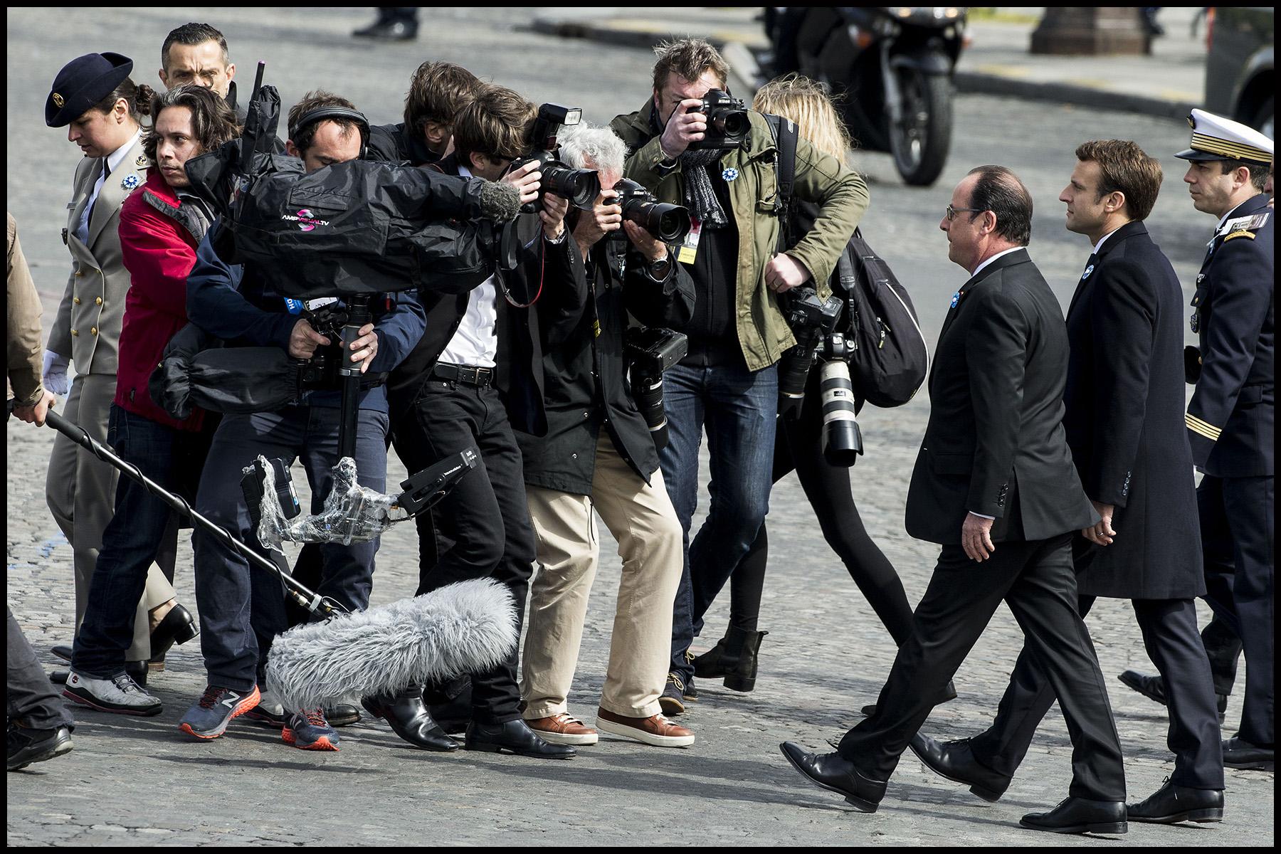 François Hollande invite le nouveau président de la république Emmanuel MACRON à la cérémonie du 8 mai.