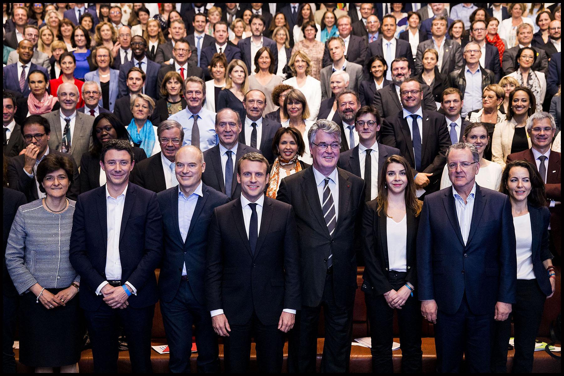 Visite d'Emmanuel MACRON aux candidats de la République en Marche pour les législatives de 2017