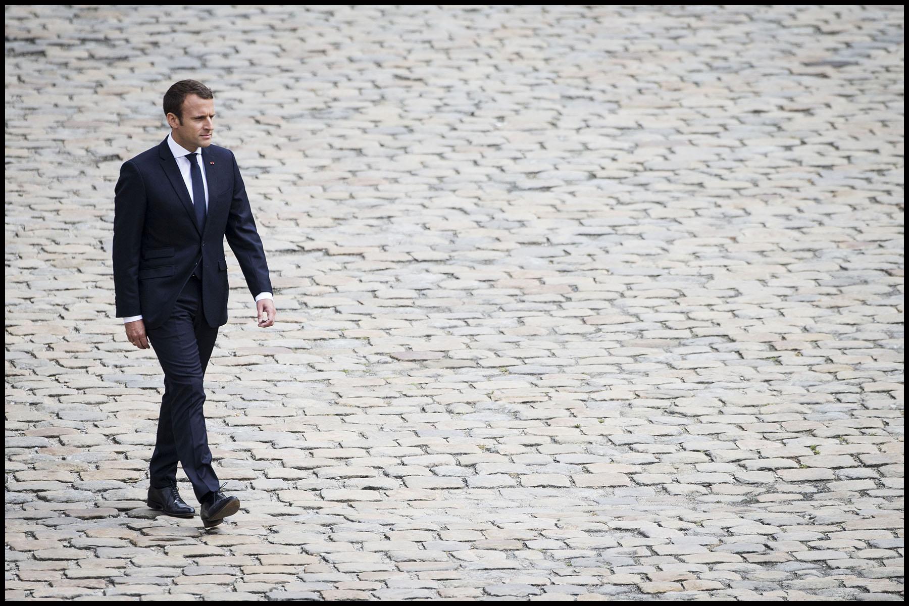 Emmanuel MACRON préside la prise d'armes à l'Hôtel national des Invalides Invalides