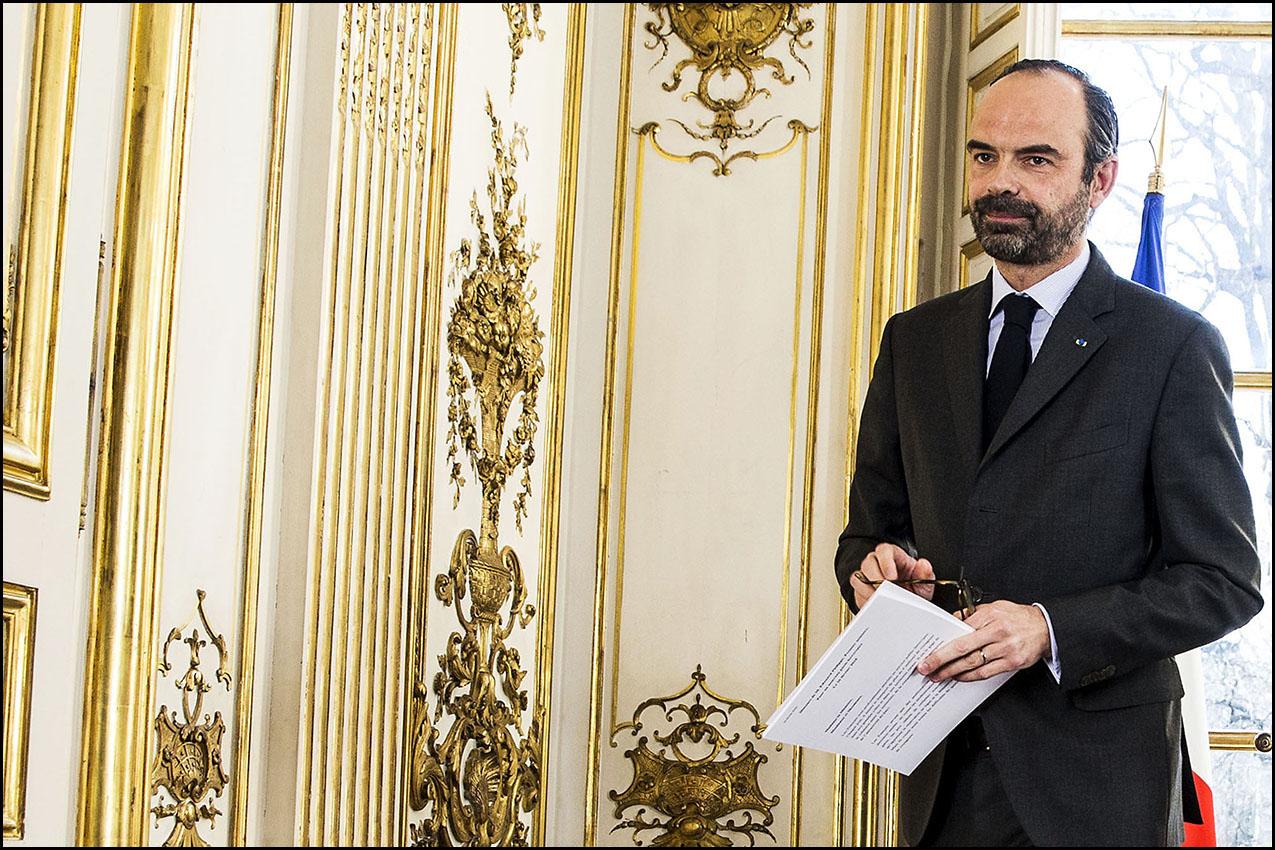 Conférence de presse du Premier Ministre Edoaurd PHILIPPE sur la réforme de la SNCF.