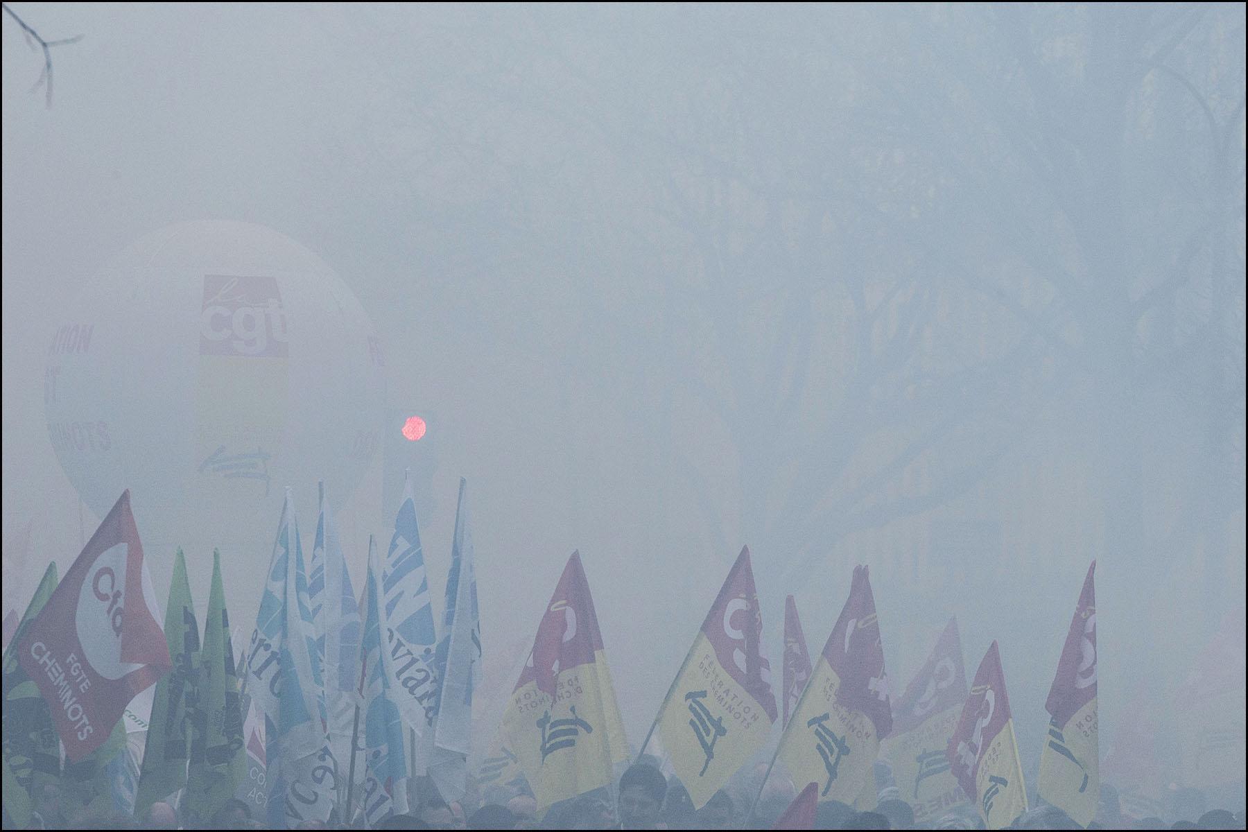 Manifestation des cheminots à Paris
