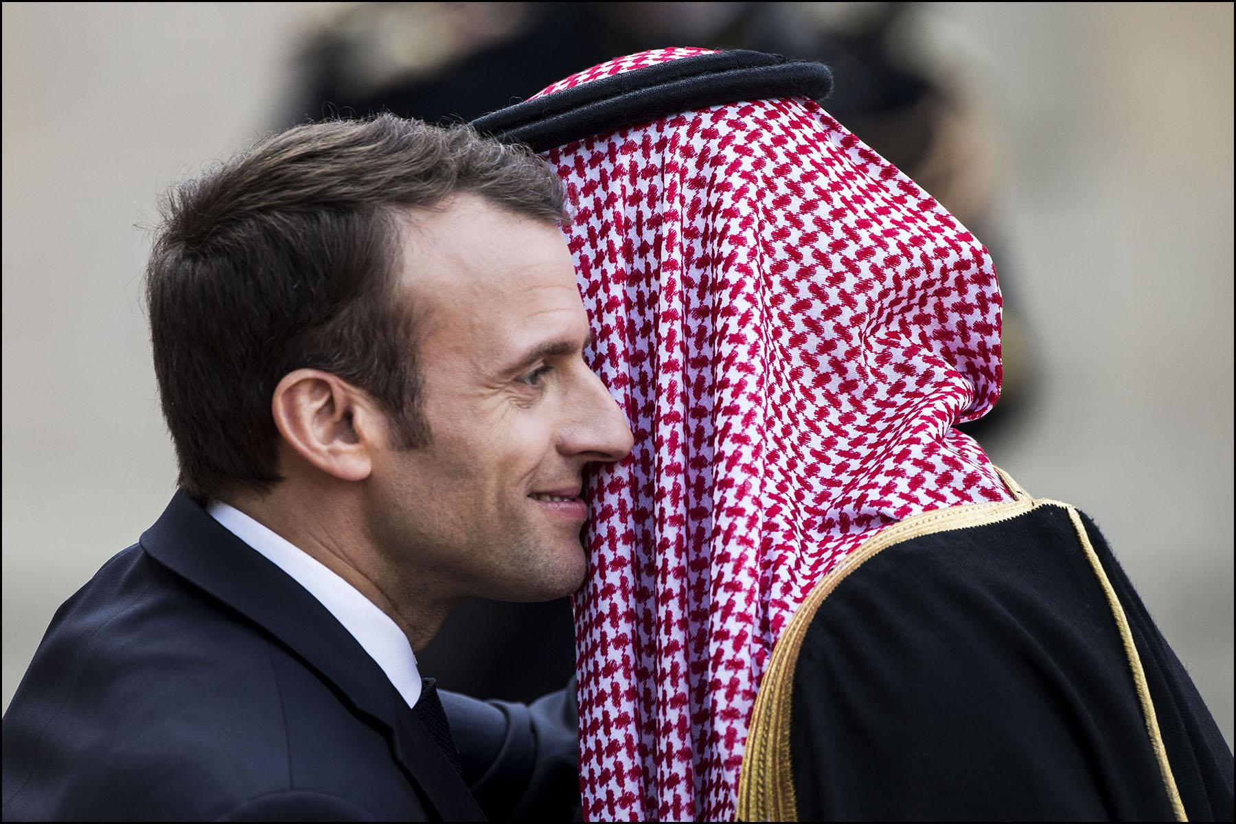 Emmanuel MACRON reçoit Mohammed Bin SALMAN, prince héritier d'Arabie Saoudite.