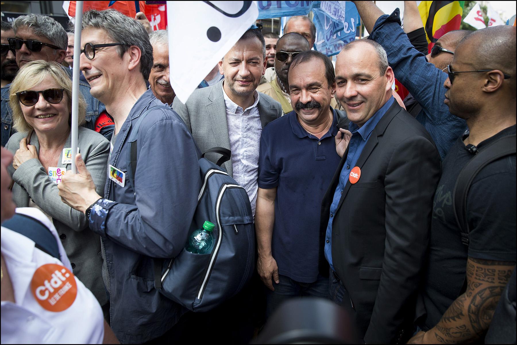 Unité syndicale pour la manifestation des fonctionnaires contre les réformes Macron.